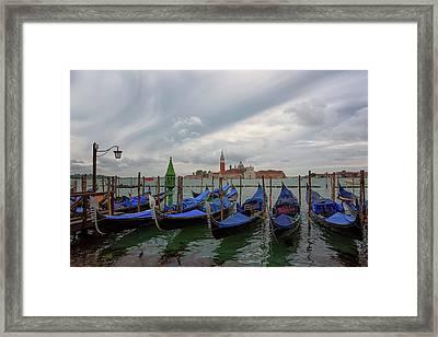 Venice Gondola's Grand Canal Framed Print