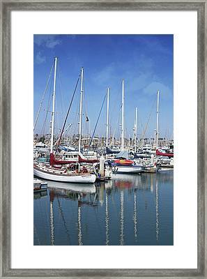 Framed Print featuring the photograph Ventura Harbor  By Linda Woods by Linda Woods