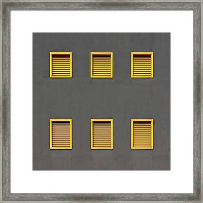 Verona Windows 3 Framed Print