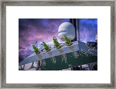 Framed Print featuring the photograph Vessel Lighting by Bill Posner