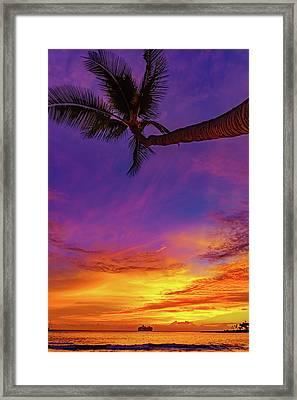 Vibrant Kona Inn Sunset Framed Print