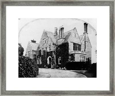 Victorian House Framed Print by Otto Herschan Collection