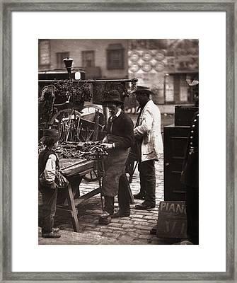 Victorian Locksmith Framed Print by John Thomson
