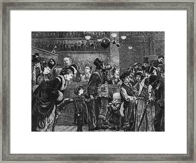 Victorian Pub Framed Print by Hulton Archive