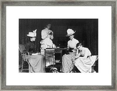Victorian Teatime Framed Print by Hulton Archive