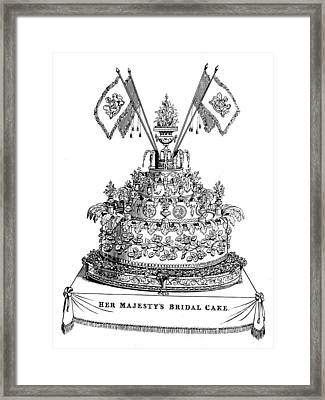 Victorias Wedding Cake Framed Print by Hulton Archive