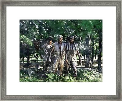 Vietnam Veteran Memorial Framed Print