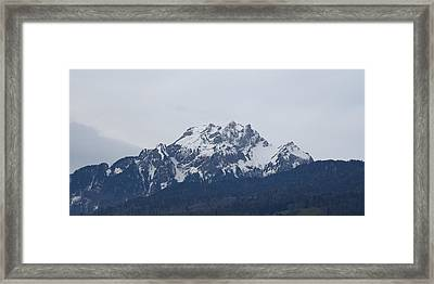 View From My Art Studio - Pilatus - March 2018 Framed Print