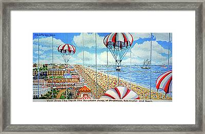 View From Parachute Jump Towel Version Framed Print