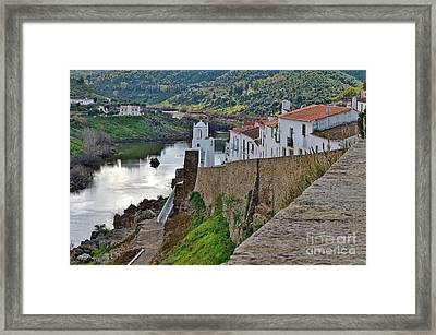 View From The Medieval Castle Framed Print