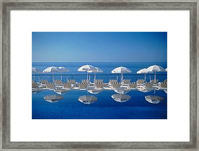 View Of Blue Framed Print