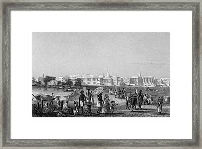 View Of Calcutta From The Esplanade Framed Print by Hulton Archive