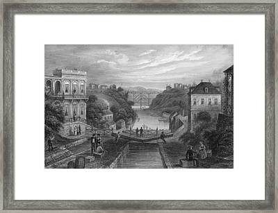 View Of Erie Canal Framed Print by Kean Collection