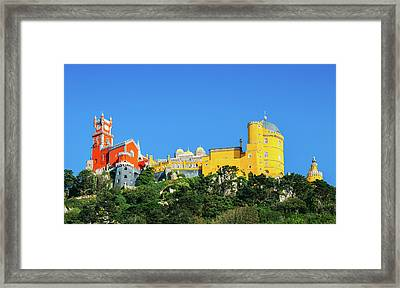 View Of Pena National Palace, Sintra, Portugal, Europe Framed Print