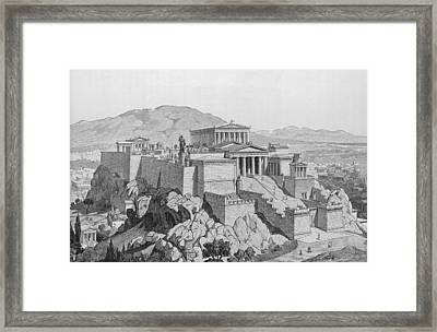 View Of The Acropolis Framed Print by Kean Collection