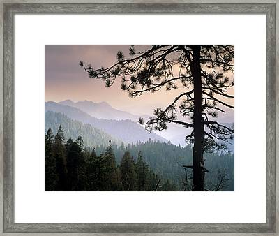 View Over Foothills To The West From Framed Print by Tim Fitzharris/ Minden Pictures