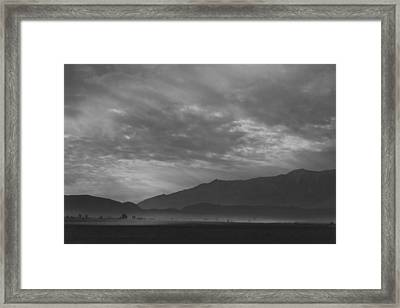 View Sw Over Manzanar, Dust Storm Framed Print by Buyenlarge