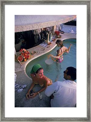 Villa Vera Pool Bar Framed Print
