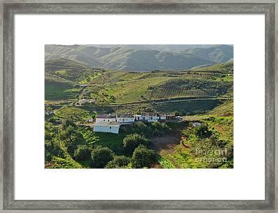 Village Hidden In The Mountains Framed Print
