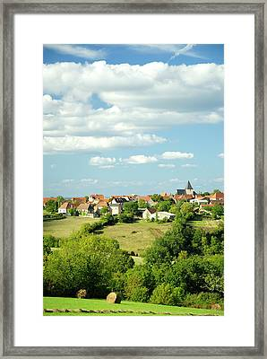 Village In The Dordogne, France Framed Print by Petegar