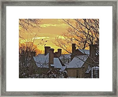 Village Morning Framed Print