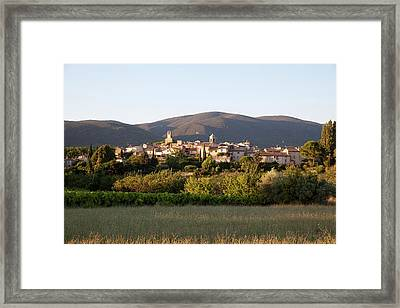 Village Of Lourmarin Framed Print by Photo And Co
