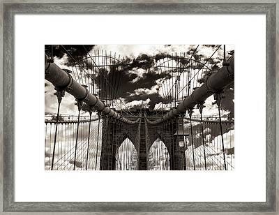Vintage Brooklyn Bridge New York City Framed Print