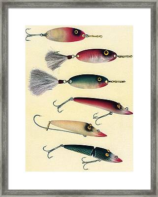 Vintage Fishing Lures Framed Print