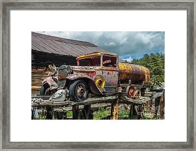 Vintage Ford Tanker Framed Print