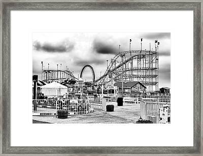 Vintage Funtown Pier Seaside Heights Framed Print
