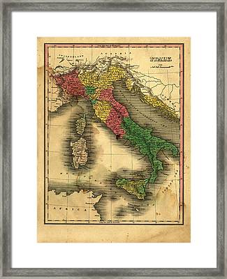 Cupertino Italy Map.Vintage Italy Map By Belterz