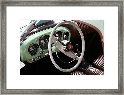 Framed Print featuring the photograph Vintage Kaiser Darrin Automobile Interior by Debi Dalio
