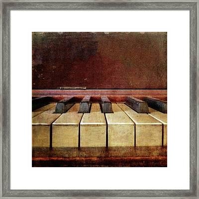 Vintage Piano Keys Framed Print