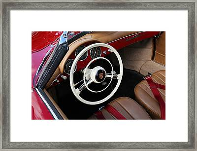 Framed Print featuring the photograph Vintage Red Convertible Interior by Debi Dalio