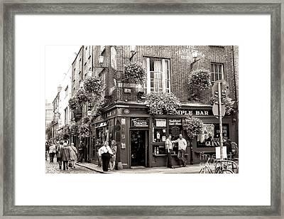 Vintage Temple Bar Dublin Framed Print