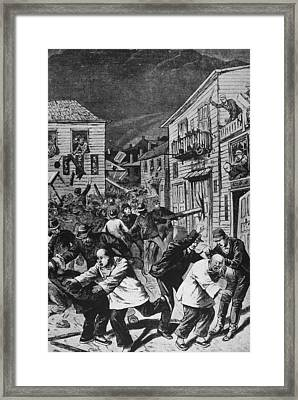 Violence Against Chinese Workers, Co Framed Print by Kean Collection