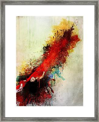 Violently Happy Framed Print