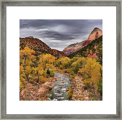 Virgin River Fall Framed Print by Leland D Howard