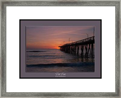 Framed Print featuring the photograph Virginia Beach Sunrise by Pete Federico