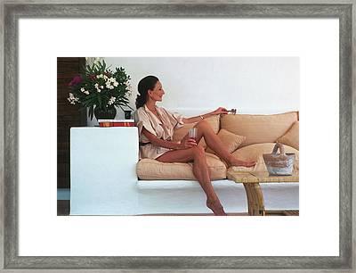 Viscountess In Ibiza Framed Print by Slim Aarons