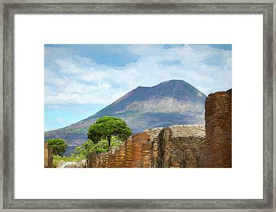 Visions Of Pompeii Framed Print by Tony Grider