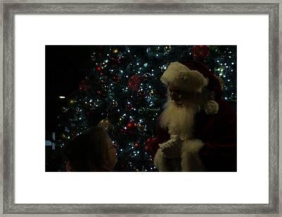 Visit With Santa Framed Print