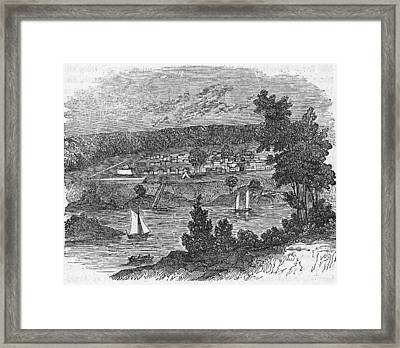 Vista Of Colonial Savannah, Georgia Framed Print by Kean Collection