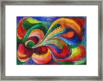 Vivid Abstract Watercolor Framed Print