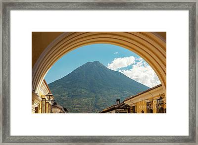 Framed Print featuring the photograph Volcan De Agua Antigua Guatemala by Tim Hester