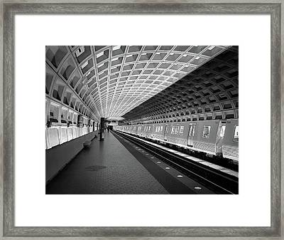 Waiting At Pentagon City Station Framed Print