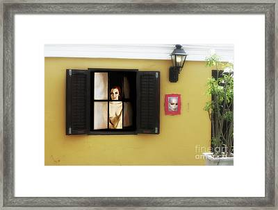 Waiting At The Window  Framed Print by ManDig Studios
