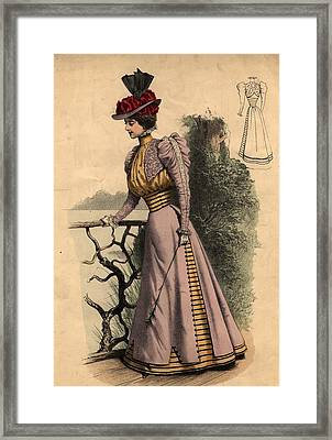 Walking Dress Framed Print by Edward Gooch Collection