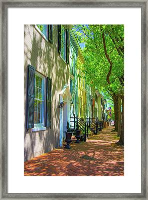 Walking On Duke Street Framed Print