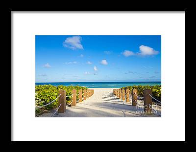 South Atlantic Framed Prints